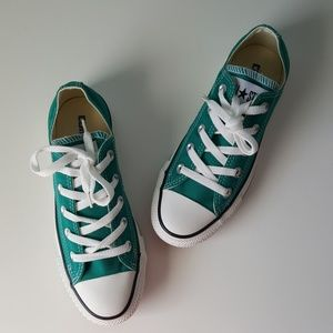 NEW Converse Teal Green Canvas Low Tops M4/W6